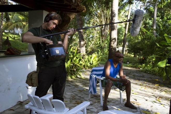 Bastidores da entrevista com o pianos Omar Sosa (Cuba)/Foto:Teresa Quesado