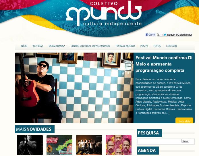 Festival Mundo divulga programação completa. / Foto: Frame do site